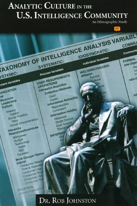 Analytic Culture in the U.S. Intelligence Cummunity