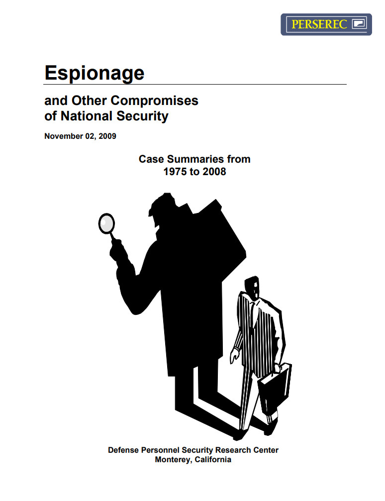 Espionage and Other Compromises of National Security