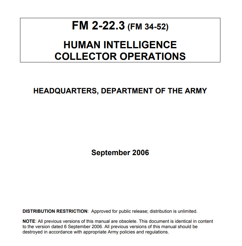 HUMINT: Human Intelligence Collector Operation